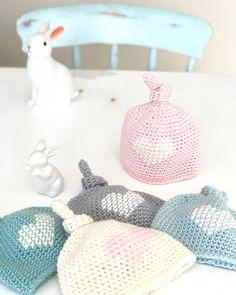 Luxury Merino Baby Topknot Heart Hat - Newborn   Felt