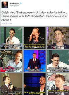 Tom and his Shakespeare :)