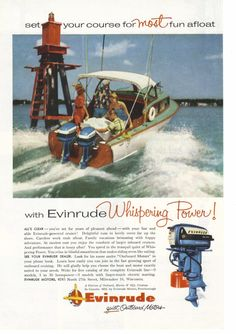 1956 Evinrude Outboard Boat Motor Ad by CollectiblesbyGramps