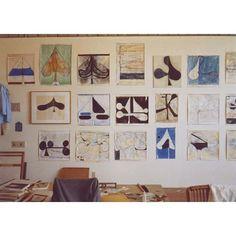 Richard Diebenkorn's Ocean Park Studio in Santa Monica, Calif. in 1981 | © Richard Diebenkorn Foundation