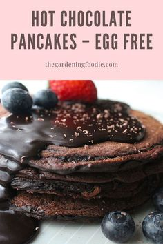 These Hot Chocolate Pancakes topped with a rich fudge sauce makes an indulgent breakfast or decadent dessert. Easy to prepare, these buttermilk based pancakes are delicately soft and light with amazing flavour