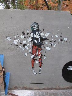 """The Insiders"" street art de Deih XLF, artiste actuellement en Espagne."