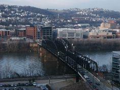 Pittsburgh PA: Hot Metal Bridge to Southside Pittsburgh Skyline, Pittsburgh Pa, Steel Mill, Sydney Harbour Bridge, River, Explore, History, Bridges, Pennsylvania