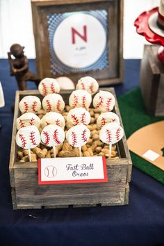 fast-ball-oreos Rookie of the Year First Birthday Party  A look inside all the details of a Rookie of the Year 1st Birthday party!  First birthday | smash cake | baseball theme party | rookie of the year | first birthday | event decor | first birthday party decor | baseball 1st birthday decor | bunting | concessions | dessert table | baseball centerpieces #firstbirthday #baseballparty #rookieoftheyearparty #smashcake