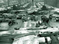 B-17 Flying Fortresses in Seattle, Washington