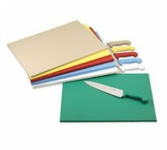 Colorcode Cutting Board, 18'' X 24'' X 3/4'', Dishwasher Safe, High-Density Polyethylene, White, Nsf... (3 Pieces/Unit) by Alegacy. $249.00. ColorCode Cutting Board, 18'' x 24'' x 3/4'', dishwasher safe, high-density polyethylene, white, NSF, USA made, individually shrink-wrapped Features Manufacturer's Category: Cutting Board Brand: Colorcode Size: 18'''' X 24'''' Construction: Plastic Thickness: 3/4''''