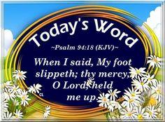 Psalm 94:18 KJV