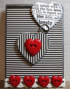 Tarjeta de rallas con corazon ♥