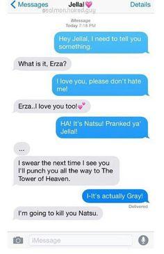 Natsu, Jellal, funny, text; Fairy Tail
