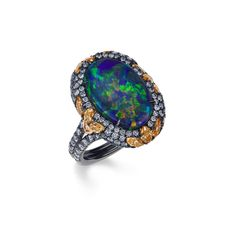 The opal stone's unique beauty makes it a great choice for the unconventional bride, or the couple looking for a less traditional engagement ring. Here, 36 stunning opal engagement rings. Cheap Engagement Rings, Opal Rings, Gemstone Rings, Argyle Pink Diamonds, Blue Diamonds, Australian Black Opal, Traditional Engagement Rings, Jewelry Sites, Pink Diamonds