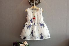 Wholesale Summer Children's Dress Elegant Cat Texture Girl Sleeveless Dress Children's Princess Skirt from Our website with high quality and fast shipping worldwide. Cat Dresses, Dresses Kids Girl, Kids Outfits, Summer Dresses, Holiday Dresses, Kids Dress Wear, Kids Gown, Frock Design, Toddler Dress