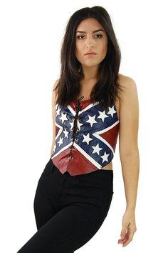 One More Chance Vintage - Rebel Flag Halter Top (http://www.omcvintage.com/rebel-flag-halter-top/)