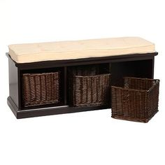 Padded Storage Bench with Baskets | Kirkland's