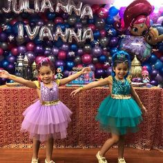 Adorable Shimmer & Shine costumes.