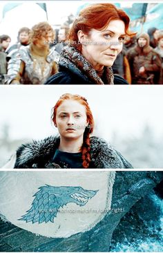 """""""She burned as bright as any man. And so shall I. You will not rob me of my birthright."""" Sansa Stark, Catelyn Stark"""