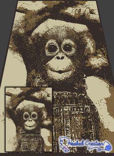 Funky Monkey SC Twin Sized Blanket Crochet Pattern - PDF Download