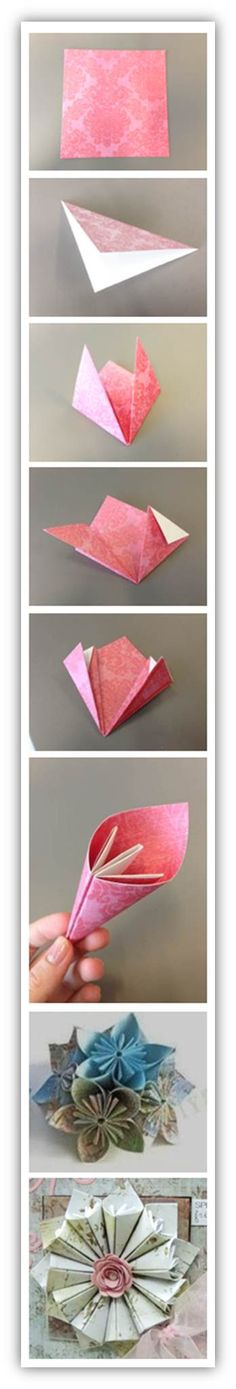 Create these beautiful Origami Petals in just a few easy steps. - QVC Craft