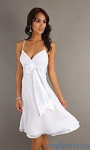 Rehearsal Dinner:  Buy Elegant Short White Dress at SimplyDresses