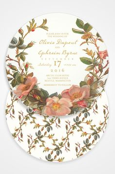 A wedding for more than two requires the beautiful Tea For Two invitation from Claire Pettibone.