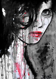 """Saatchi Online Artist: Loui Jover; Pen and Ink, Drawing """"gothica"""""""