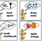 This is a free language activity for speech therapy that targets making associations and describing how two items go together.  This document has a...
