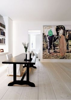 Stunning! I need those wide plank plywood floors! by mariana