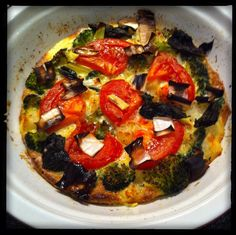 Broccoli, Leek & Tomato Frittata (baked not fried)