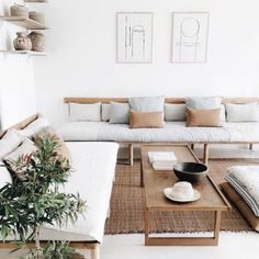Here are the Minimalist Home Décor Ideas That Will Blow Your Mind. This article about Minimalist Home Décor Ideas That … Cheap Living Room Sets, Living Room White, Living Room Sofa, Minimalist Home Decor, Minimalist Living, Living Room Goals, Apartment Sofa, Wooden Sofa, Piece A Vivre