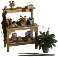 Gardening : Kent's Mini Treasures, Artisan Dollhouse Miniatures