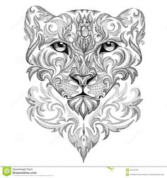 panther face tattoo - Google Search