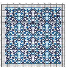 Gallery.ru / Фото #31 - Схемы для вышивки крестом - квадраты орнамент - romashkaroma