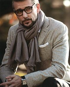 Scarf and glasses.
