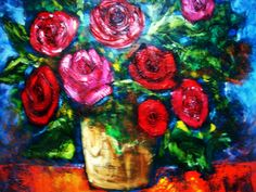Red Roses texture... Acrlylic on canvas 110x98.