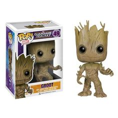 """This Marvel Pop! Vinyl Groot Bobble Figure comes from the 2014 movie Guardians of the Galaxy. Groot is not a tree - he is a Flora Colossus who comes from Planet X. Groot's language is nuanced and hard to understand  due to the stiffness of his larynx which causes everything he says to sound (to humans) like the phrase """"I am Groot"""". This Funko Pop! Vinyl is 3 3/4 inches tall and comes in a collectible window box. #nesteduniverse"""