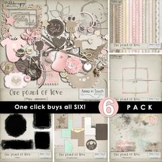 One Pound of Love ~ 6-Pack plus FWP by Keep in Touch Designs