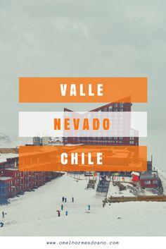 Pertinho de Santiago, dá pra conhecer um dos centros de ski mais bonitos do Chile. O Valle Nevado fica na cordilheira dos Andes, com uma linda vista e a possibilidade de esquiar, de se hospedar ou de somente passar o dia e brincar na neve!