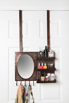 Over-the-Door Vanity Station, cute idea for small apartments with limited storage.