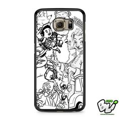 Pixar Character Collage Samsung Galaxy S6 Case