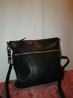 040d4c5ebdf0 KATE-SPADE-Black-Leather-MEDIUM-Cross-Body-Shoulder-Bag