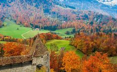 Gruyere, Switzerland - Autumn Holidays   Best Places To Visit In The Fall   Rough Guides.  Guyere cheese & chocolate factory