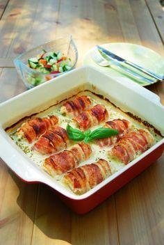 Bazsalikomos fetával töltött csirkemell Chicken Breast Recipes Healthy, Meat Recipes, Cooking Recipes, Feta, Chicken Eating, Healthy Snacks, Healthy Recipes, Good Food, Yummy Food