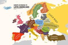 Europa según los latinoamericanos