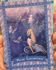 At our Mom and Maiden circle this month there were some cards present including this Faerie deck.  Ella Pants wanted to see it.  I asked her if she wanted to pick out the cards she felt were her favourite. She chose a few but this one was her most favourite.... interesting because we just moved.  #theuniversehasyourback #andsobeit #makessense Some Cards, Most Favorite, Krystal, Faeries, Deck, Presents, Bird, Mom, Pants