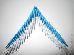 Мастер-класс, Поделка, изделие Оригами модульное: Дельфин Бумага. Фото 20