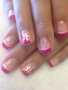 Gel Nails French, French Nail Art, French Tip Nail Designs, Gel Nail Designs, Nails Design, Design Design, Summer Gel Nails, Beach Nails, Acrylic Nail Shapes