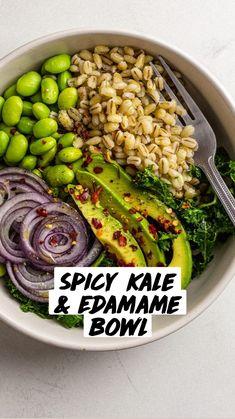 Healthy Meal Prep, Healthy Salad Recipes, Whole Food Recipes, Healthy Snacks, Vegetarian Recipes, Healthy Eating, Lunch Salad Recipes, Cooking Recipes, Vegan Bowl Recipes