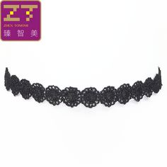 Hot new torques Bijoux Gothic Tattoo Lace flowers necklace hollow False collar Maxi statement Chokers Necklace for Women jewelry