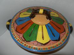 Mexican Pottery Tlaquepaque Folk Art Redware by myclosetshelf