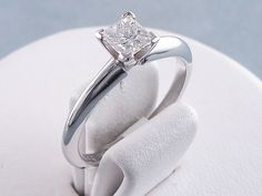 0.52 ct Princess Cut Diamond Solitaire Engagement Ring G SI1. For sale for $1,090 on our website www.bigdiamondsusa.com or call us at 1-877-795-1101 for more information.