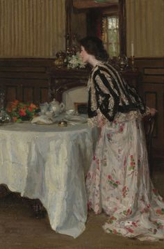 Tea Time  Henry Salem Hubbell  ॐ}*{ॐ
